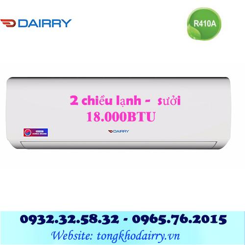 Điều hòa Dairry 18000BTU 2 chiều DR18-KH