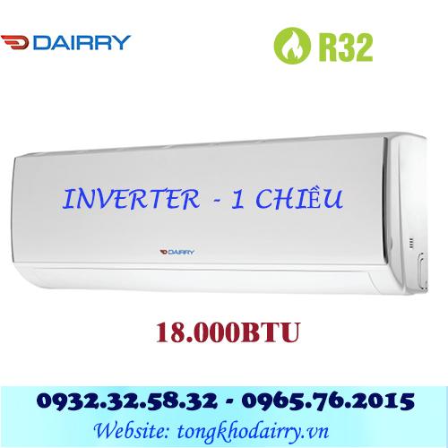 Điều hòa Dairry 18000BTU inverter 1 chiều i-DR18-KC